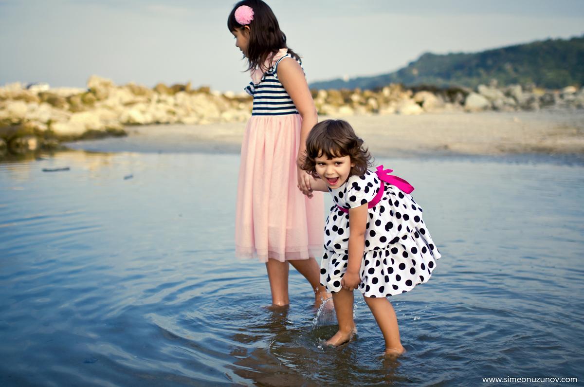 професионална детска фотосесия на морето варна