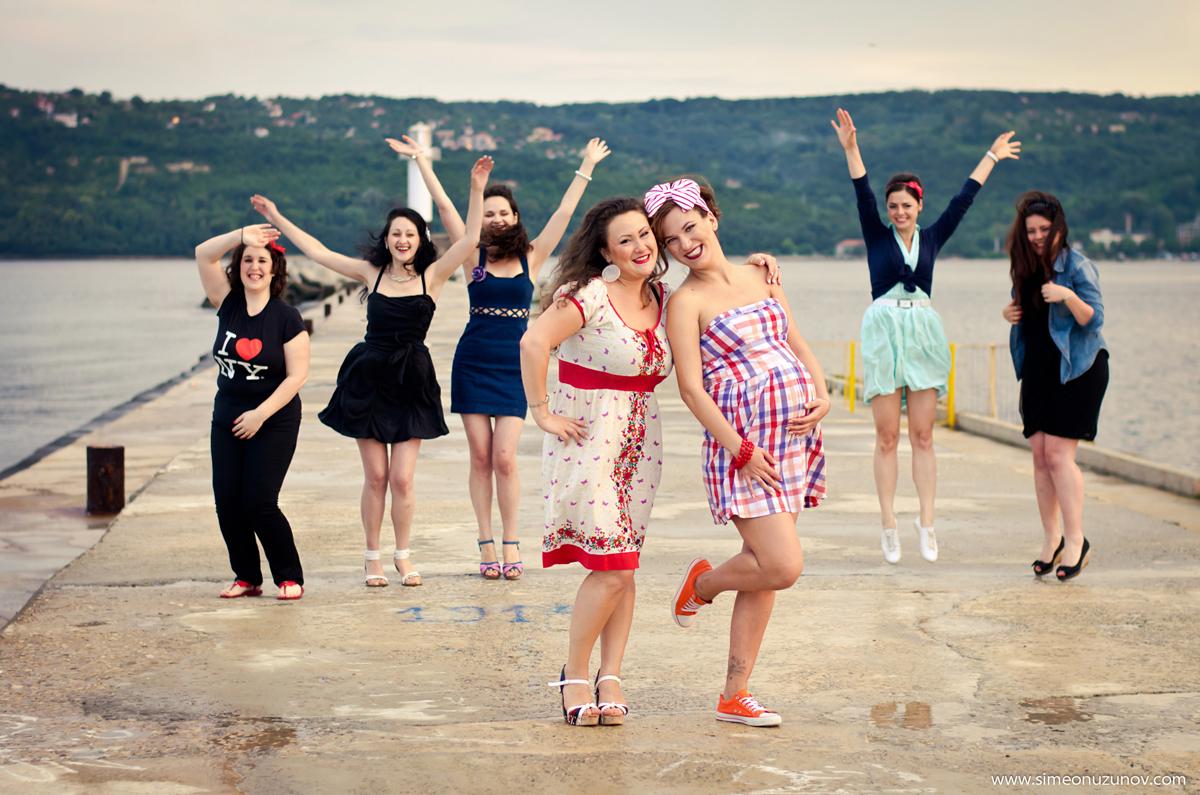 фотограф моминско парти на морето