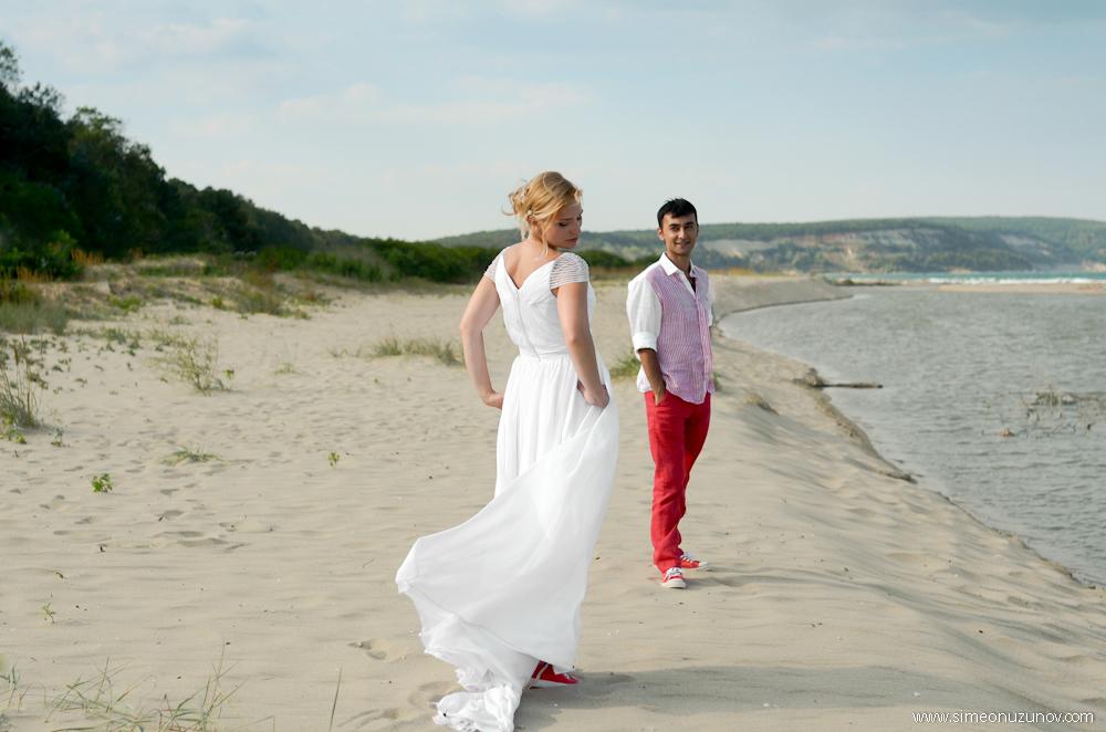 сватбени фотосесии на морето варна
