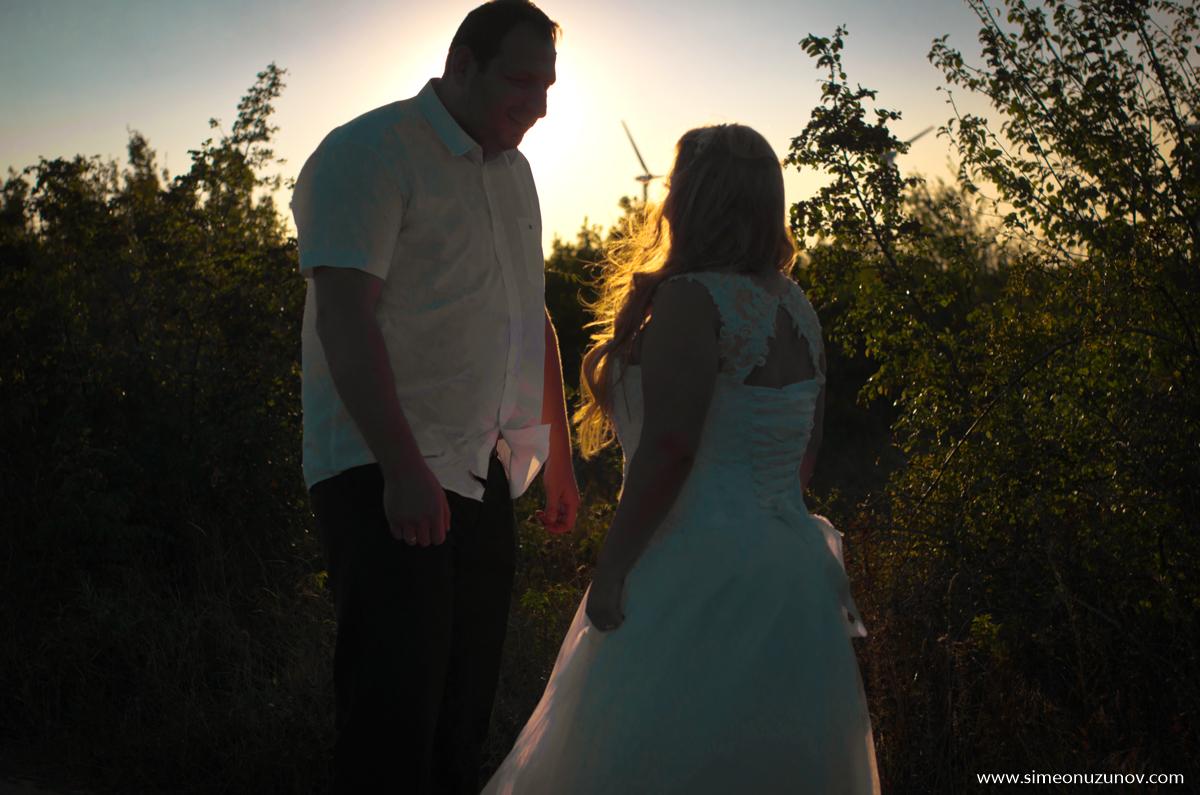 сватбена фотосесия на болата