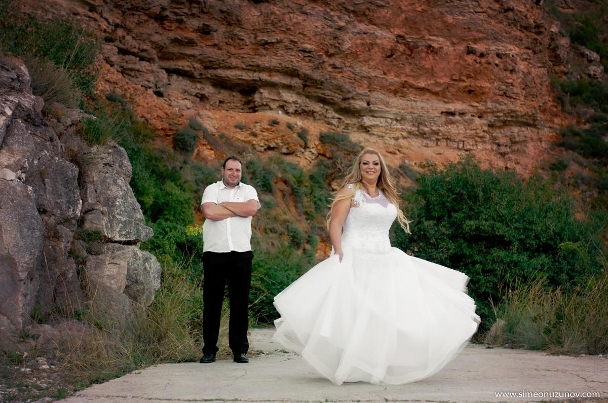 сватбена фотосесия залив болата