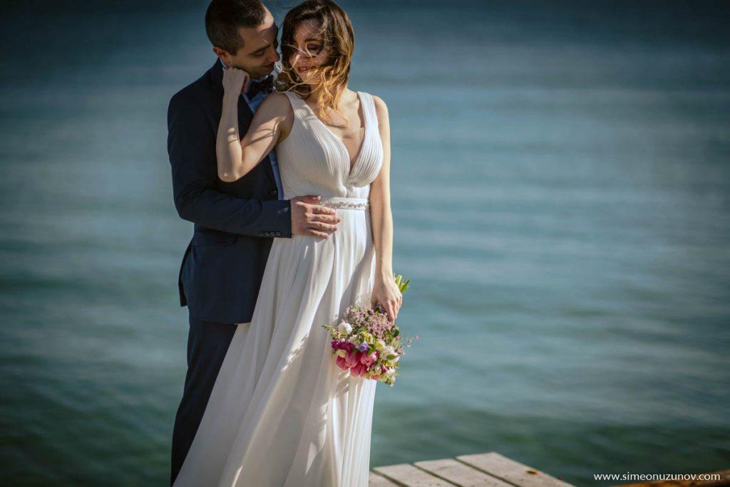 заснемане на сватба на морето варна