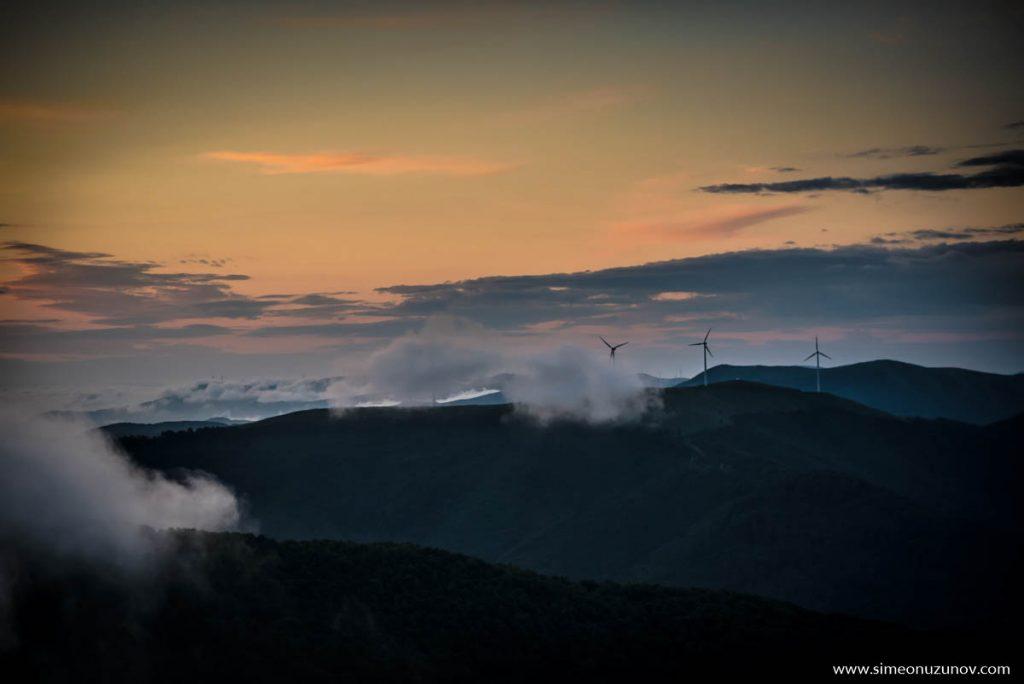 мъгла в планината