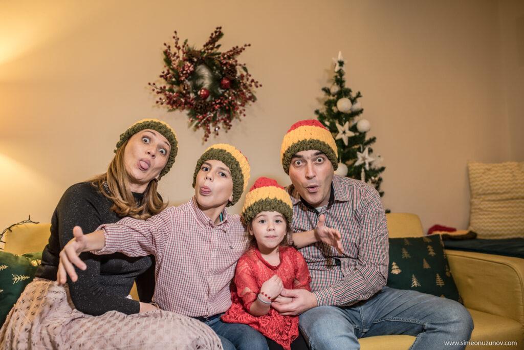 семейна фотосесия за коледа варна