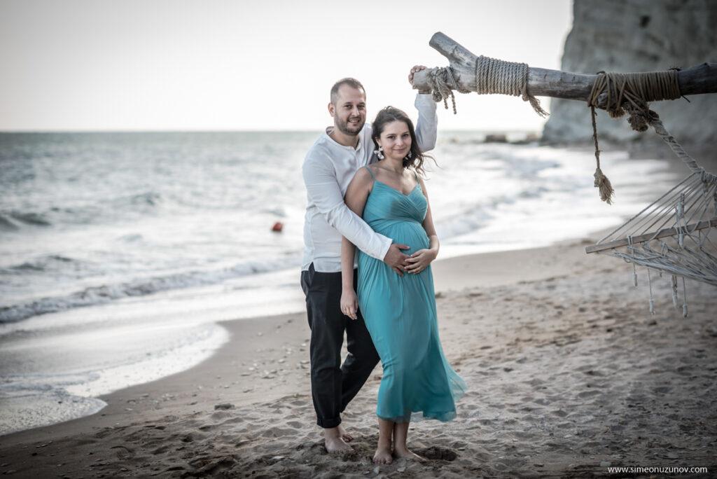 семейна фотосесия на бременна варна